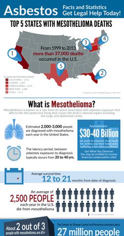 Asbestos Mesothelioma Exposure Infographic